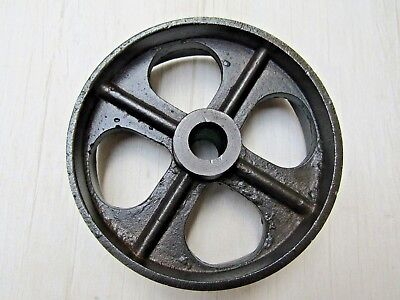 "4.5"" Cast iron vintage old industrial AXLE WHEEL antique rustic iron"