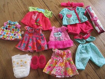 Baby Alive Doll Clothes Lot Dresses Shoes Outfits Accessories