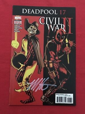 Deadpool #17 Nm Signed By Mike Hawthorne Wow!! Bid Now!!