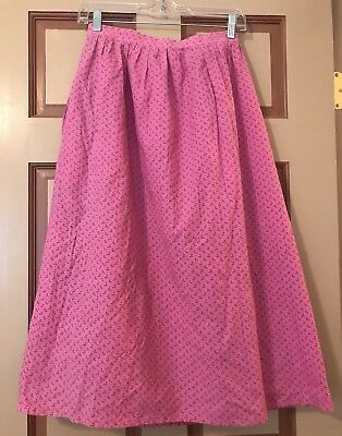 German Austrian Trachten Dirndl Skirt Vintage Exceptionally Pretty 1960's Med
