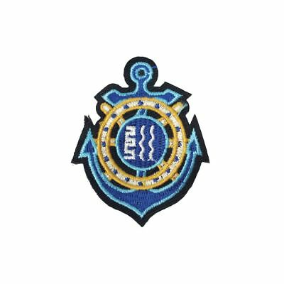 Blue Anchor (Iron On) Embroidery Applique Patch Sew Iron Badge