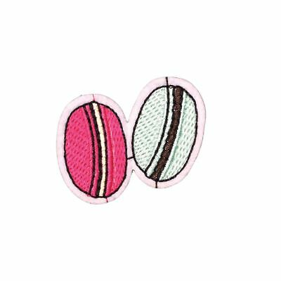 Two Macaroons (Iron On) Embroidery Applique Patch Sew Iron Badge