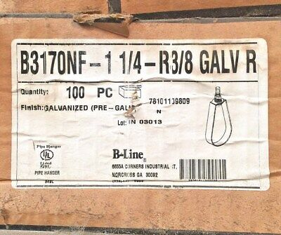 "(K) B-Line B317ONF 1-1/4"" R3/8 GLV  Box of 100"