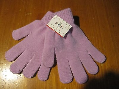 NWT Stretchy Knitted Winter Warm Gloves PURPLE
