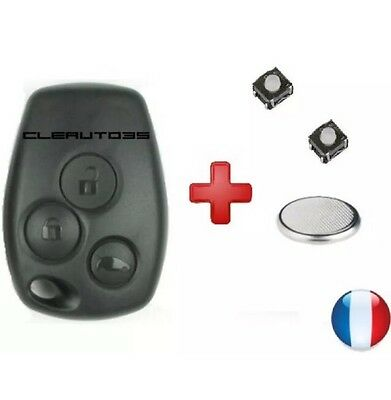 Coque Clé switch Plip Renault trafic kangoo master 3 boutons +PILE clef