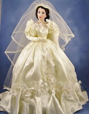 GONE WITH the Wind FRANKLIN MINT Scarlett Bride Wedding Porcelain ...