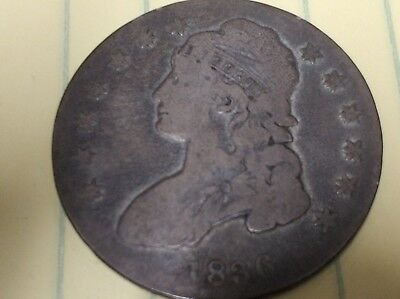 1836 Capped Bust Half Dollar GREAT DETAIL AND PATINA Ships to USA (Coin 16)