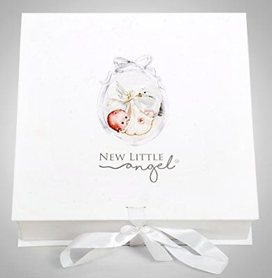 Hooded Baby Towel, Swaddle, Angel Wings Photo Props Gift Set by New Little Angel