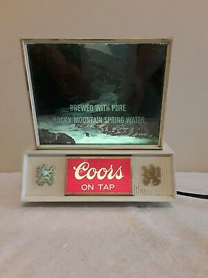 Vintage Coors On Tap Lighted Sign Rocky Mountain Spring Water