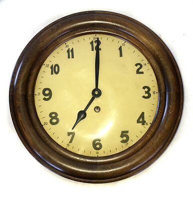 Vintage Hac 8 Day Timber Case Wall Clock  - Made In The Black Forest, Germany