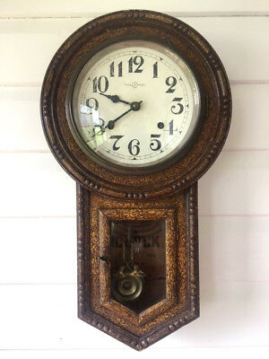 Antique Japanese 8 Day Strike Wall Clock By The Tachimoto Clock Co.