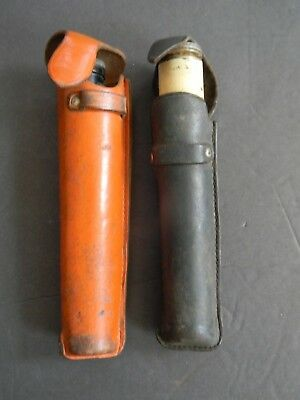 TWO VINTAGE K&E SURVEYORS HAND LEVEL SCOPES  in LEATHER CASES - KEUFFEL & ESSER
