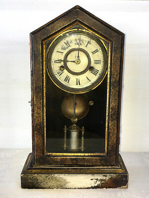 Antique New Haven American Shelf Clock - Tuscan Model From 1879