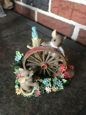 "Charming Tails ""Wheel Always Be Friends"" Fitz and Floyd Mouse/Collectibles"