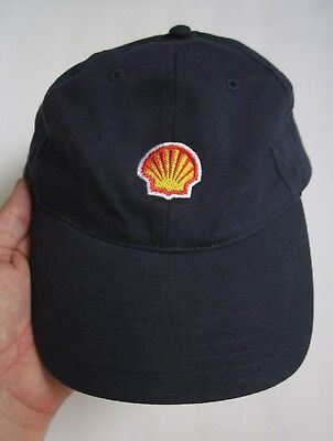Shell Oil Small Logo Gas Stations Adjustable Hat Cap, Navy Blue, Osfm, Exc.!