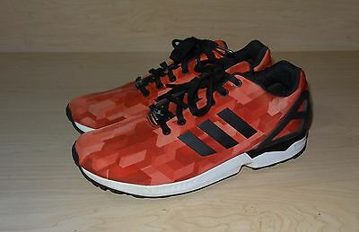 new styles aa32b df0b2 Adidas ZX Flux Print Red/Crimson/White/Black S32140 Men's Sz US 11 Casual  Shoes