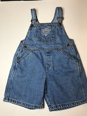 Guess USA Toddler  Blue Denim Bib Overall Shorts Size Kids 4Y