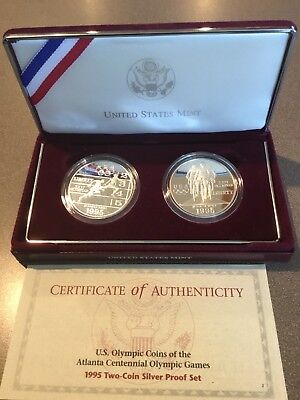 1995 Olympic Games Two Coin Silver Proof Set