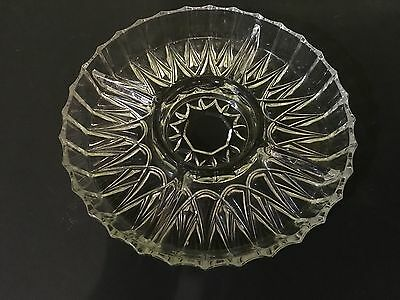 Vintage Retro - Glass Partitioned Classic Pattern Savoury Dish - 25cm Diameter