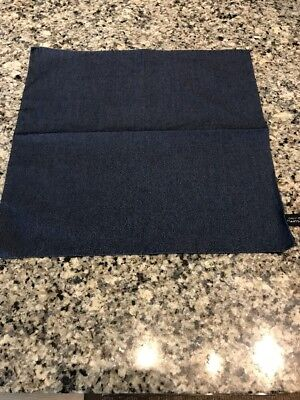 Suitsupply Chambray Cotton Pocket Square