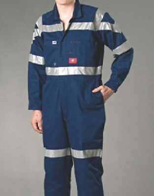 Worksense WS8111 Navy Cotton Drill Combination Overalls 112R Safety Overalls