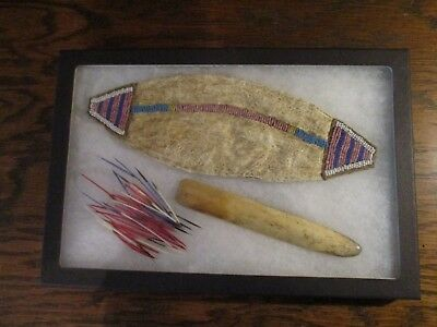 Antique Lakota Sioux Buffalo Bladder Bag and Contents