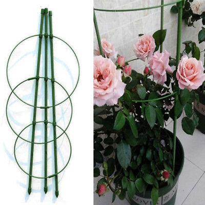 Garden Cone shaped Trellis Climbing Flower Plant Growth Support Frame 45cm Green
