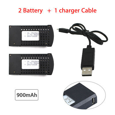 2X SG700 Battery 900mAh+Charger Cable Accessories For SG700/DM107S/S169 Drone