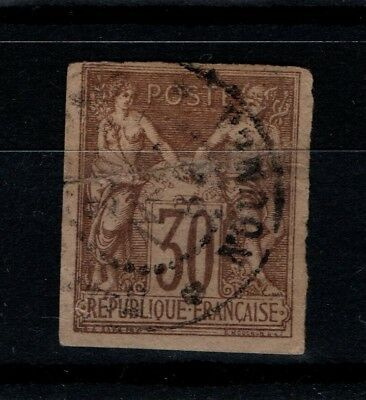 France French Colonies 1877 30c SG 32 Used Good margins
