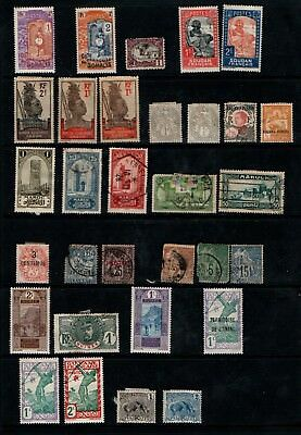France French Colonies 1881 onwards early selection Mint and Used 31 stamps