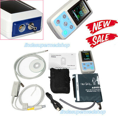 CONTEC Multi-functional patient monitor,NIBP& SPO2,PR Blood Pressure PM50 Newest
