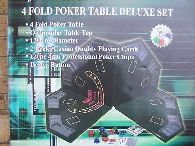 Torpedo brand Gold Crown 4 fold Poker Table top deluxe set