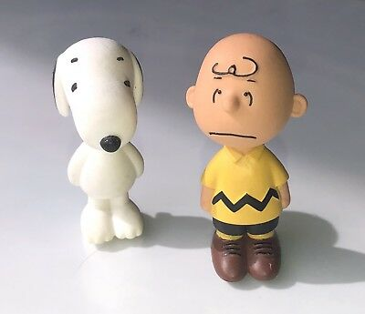 "Cute Snoopy And Charlie Brown, Peanuts Figurines, 2"" Tall"