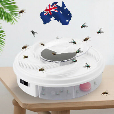 AU!! Eco-friendly Electric Fly Trap Device with Trapping Food - White USB Cable