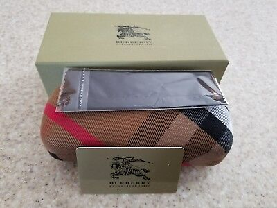 Brand New Burberry sunglasses case with Cleaning Cloth and gift box.