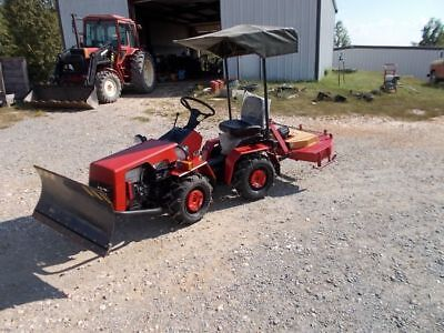 132H Articulated 4wd Garden Tractor