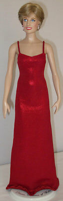 Franklin Mint - Princess Diana - Red Lame - Outfit