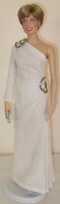 Franklin Mint - Princess Diana - White & Silver Gown - Doll & Custom Made Outfit