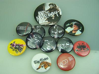 Music related pin back badge assortment Michael Jackson Cops The Strokes ++ 1639