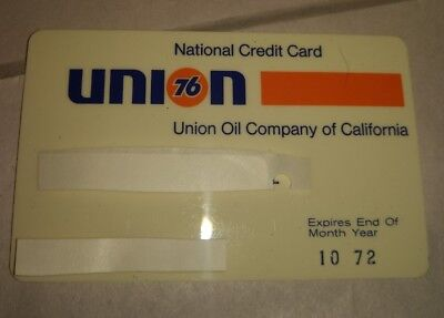 Union 76 Union Oil Company Of California National Credit Card Exp 10/72  VGC