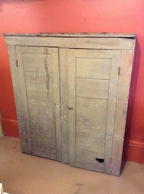 Vintage Antique Large Wood Double Door Jelly Cabinet Pie Safe
