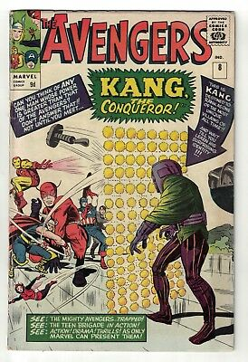 Marvel comics Avengers 8 1st Appearance Kang FN- 5.5 captain  iron man thor