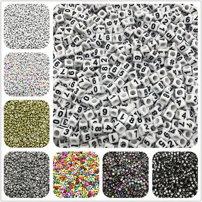 100pcs 1~9 Number Beads Charms Bracelet Necklace For Jewelry Making