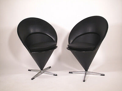Paire fauteuils cônes - Verner Panton - set of 2 cônes chairs design vintage