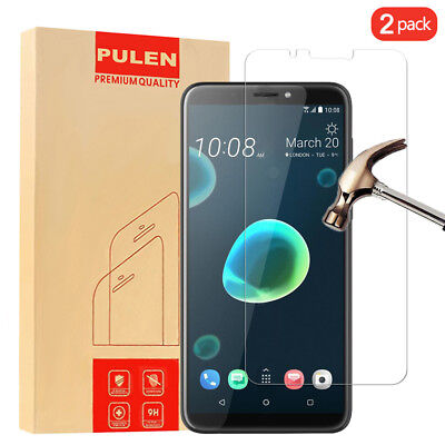 [2-Pack]Premium Tempered Glass Screen Protector For HTC Desire 12 Plus