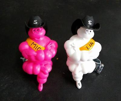 "2X5""NEW LIMITED VINTAGE MICHELIN MAN DOLL FIGURE Free Black Hat TIRE NEW"