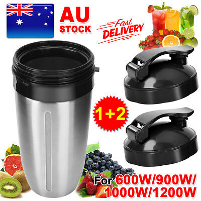 Stainless Steel Cup Fliptop Replacement Parts for NutriBullet 600/900/1200W