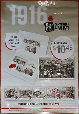 Australia Post 2018 Centenary Of World War One (1916) Stamp Promo Posters (2)
