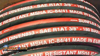 "Standard Hydraulic Hose 3/8""ID SAE100R1-06 1Wire 2610 PSI pressure 50 Meter Coil"
