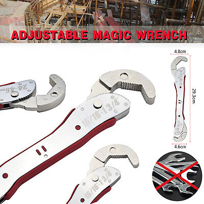 1/2PCS Multi-function Adjustable Universal Quick Snap Grip Magic Wrench Spanner